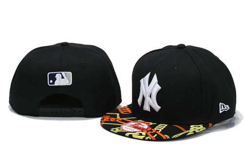 New York Yankees Black Snapback Hat YS 3